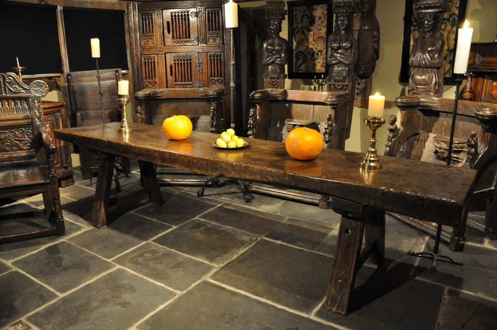 Tudor Oak Trestle Table From The Late Medieval Period