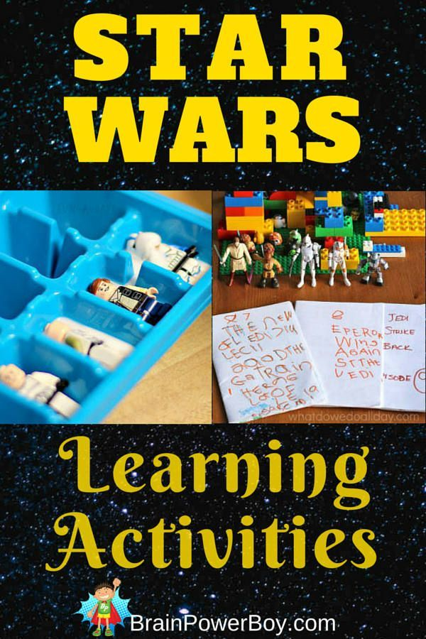 Do you have a Star Wars fan in your house? Try these Star Wars Learning Activities (part of a Star Wars Homeschool Unit Study!) Fun learning activities with Star Wars math, typing, writing, language, spelling, and science.