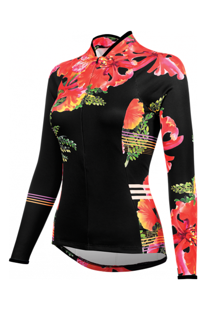 Bellissima Flamboyant Long Sleeve women s cycling jersey from Shebeest. 654bcd8b3