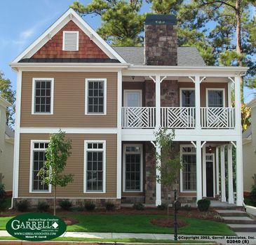 Hilton B House Plan 02040 Garrell Associates Inc Southern House Plans Porch House Plans Narrow Lot House Plans