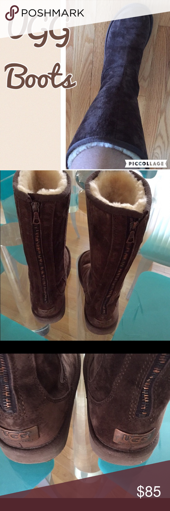 2416b85aaf5 Chocolate Brown Ugg Boots Chocolate Brown Tall Ugg Boots. Boots have ...