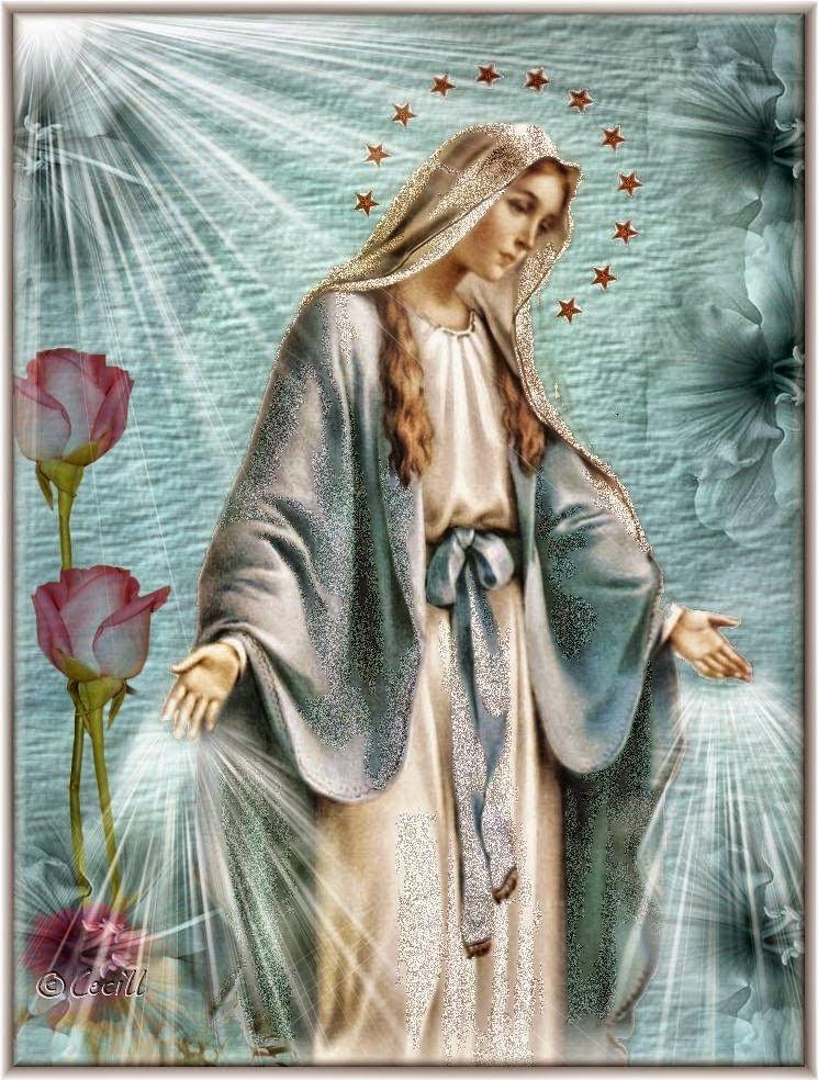 Virgen De La Medalla Milagrosa Para Colorear Dibujos De
