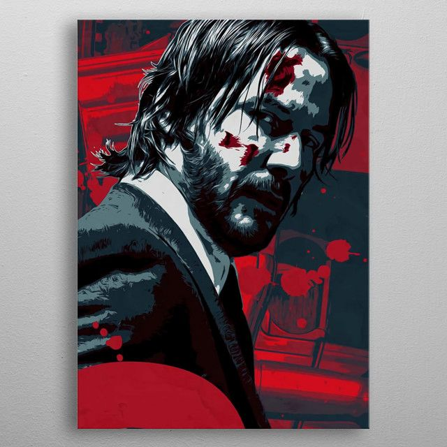 John Wick. Poster made out of metal. John Wick Poster made out of metal.  high definition
