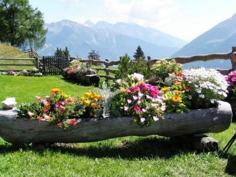 Incredibly beautiful DIY flowerbed ideas from logs – original decoration for your garden #ikeakinderzimmer