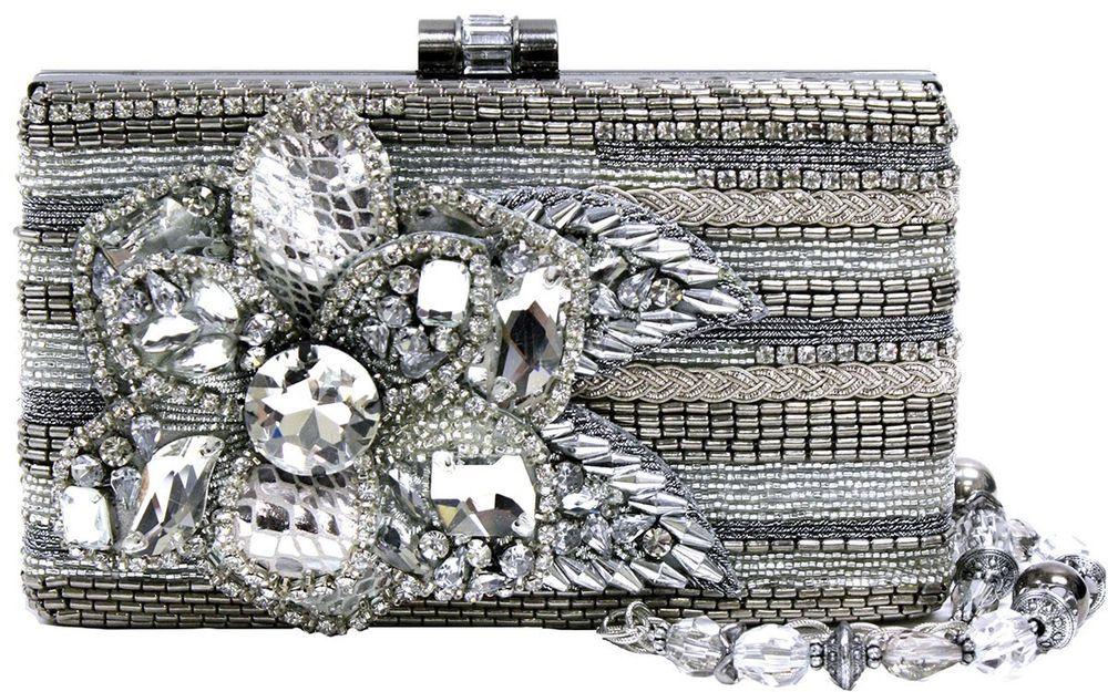 Mary Frances 25 Twenty Five Silver Flower Bag Purse Handbag NEW Winter 2014 #MaryFrances #EveningBag