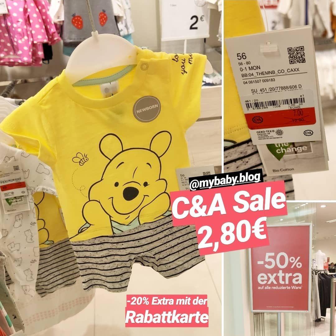 "MyBaby Blog (@mybaby.blog) posted on Instagram: ""C&A Sale 😍 mit Rabattkarte 2,80€, ohne 3,50€| Anzeige . . . #c&a #ca #mybabyblog #babyblogger #sale #saleblogger #angebot #angebotblogger…"" • Aug 17, 2019 at 1:08pm UTC"