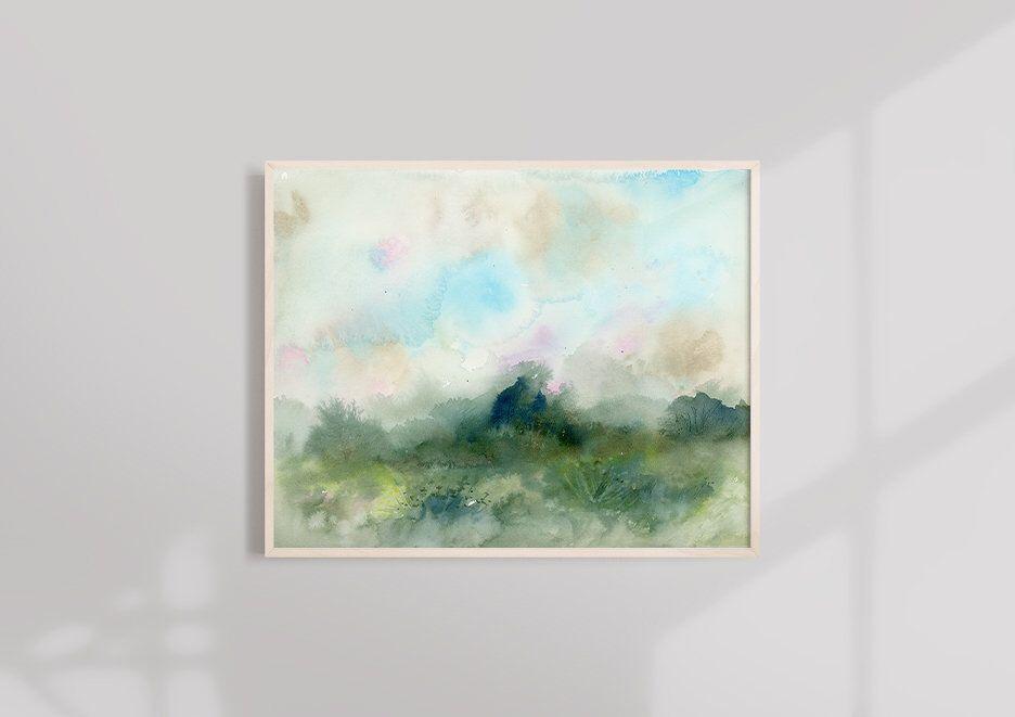 Watercolor Print Landscape Art Watercolor Landscape Sunset Abstract Art Print Abstract Landscape Modern Art Print Contemporary Art Modern Art Prints Minimalist Art Watercolor Landscape