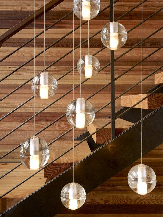 Pendant Lights Over Stairs