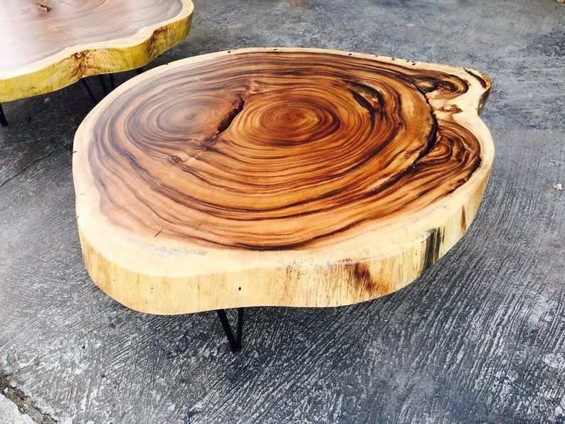 Live Edge Coffee Table Acacia Wood Table Epoxy Resin Table