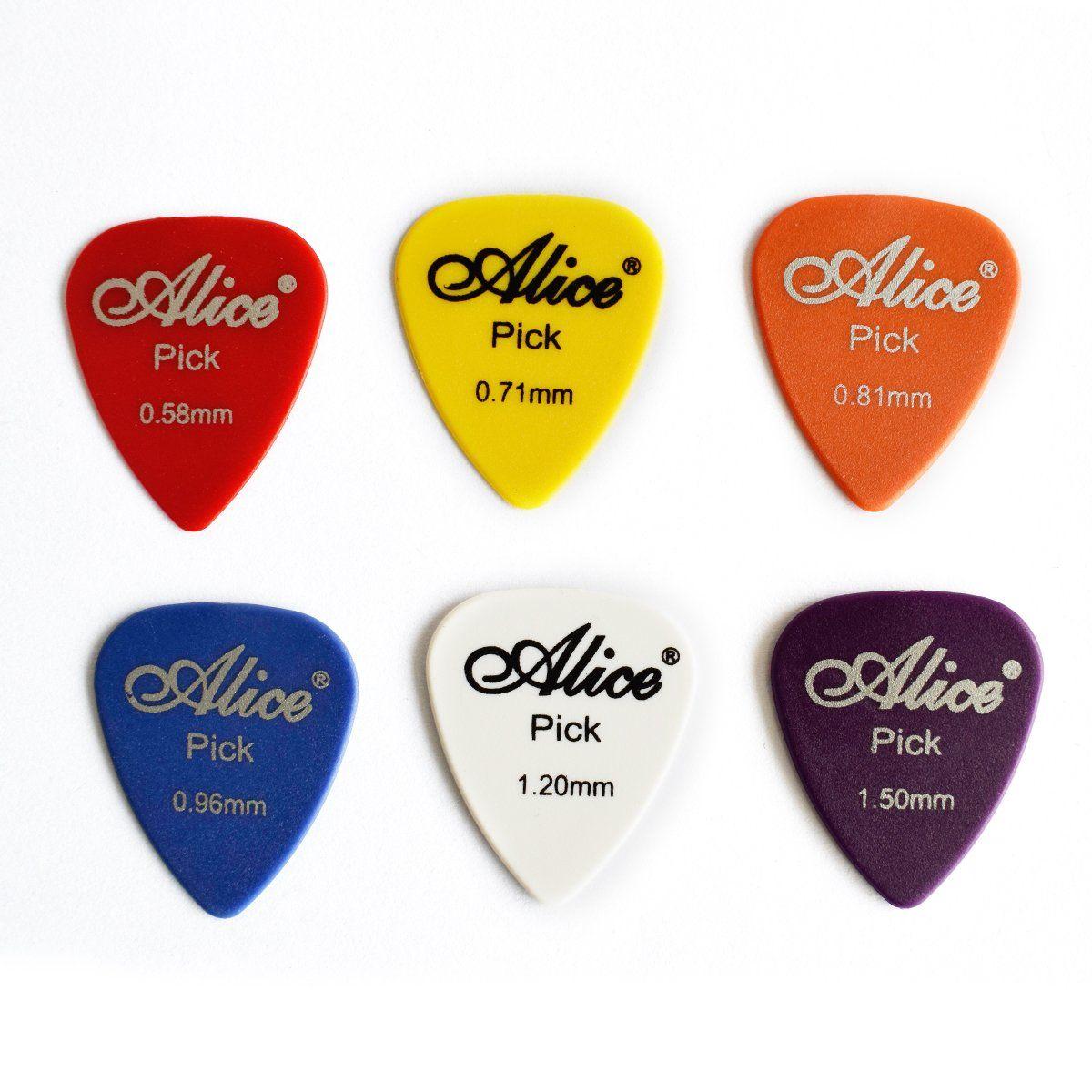100 Pcs Guitar Picks Plectrum Various Colors 6 Gauges 0 58 0 71 0 81 0 96 1 20 1 50mm For Acoustic And Electric Guitars Pa Guitar Guitar Picks Electric Guitar
