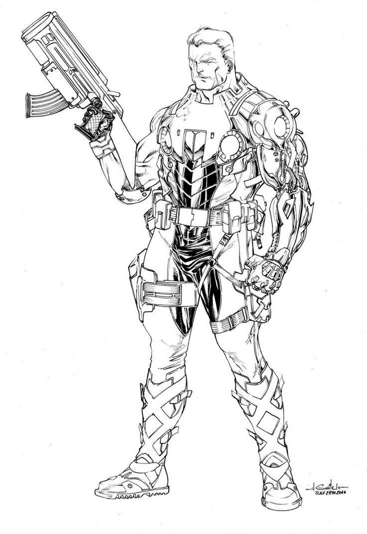image result for marvel cable line art