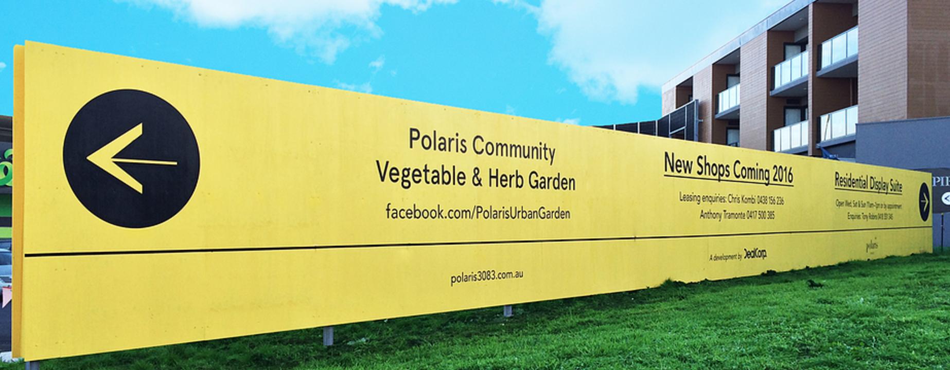 Polaris community vegetable and herb garden hoarding. Hoarding ideas ...