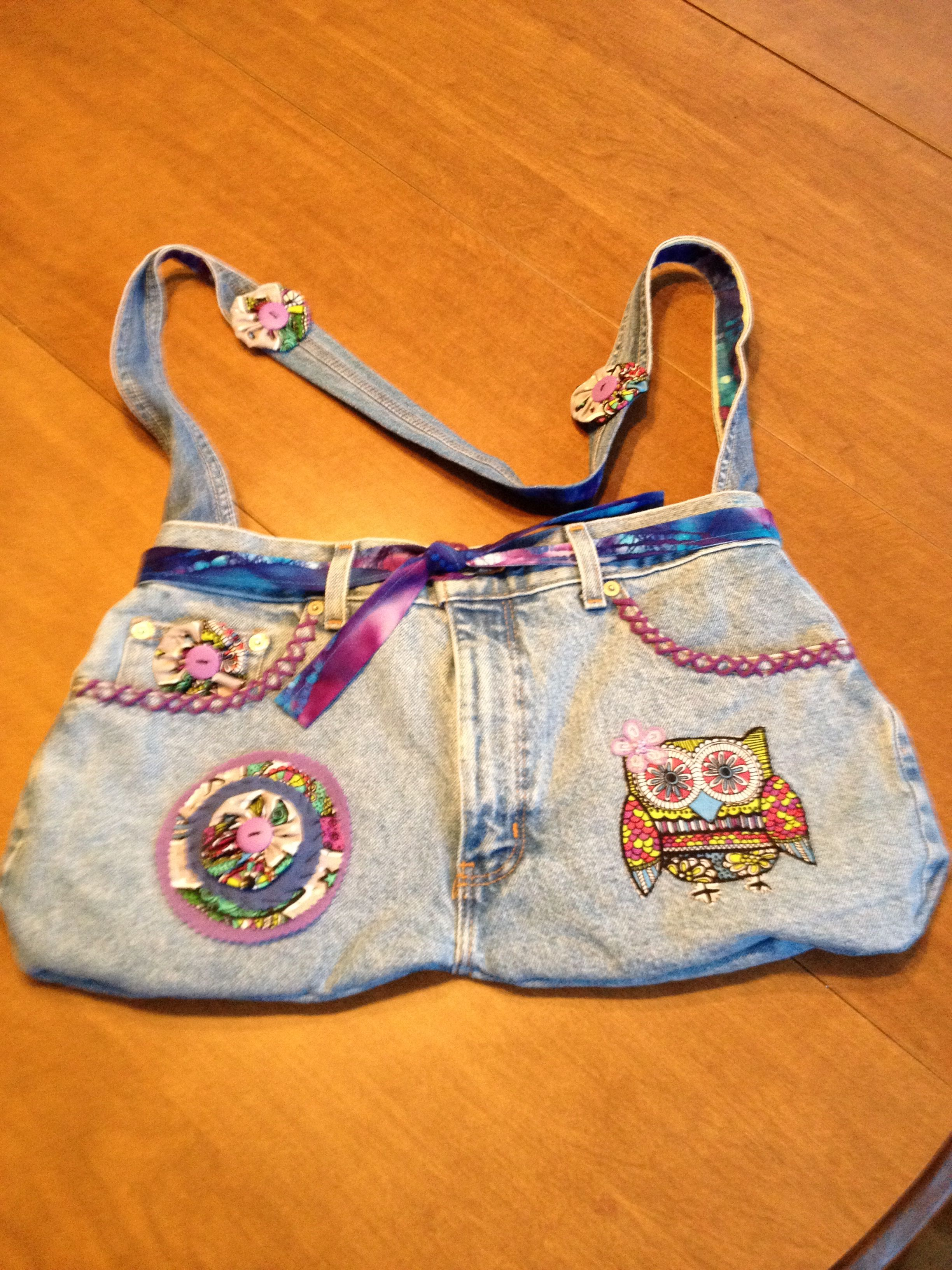Bag made from Jean shorts