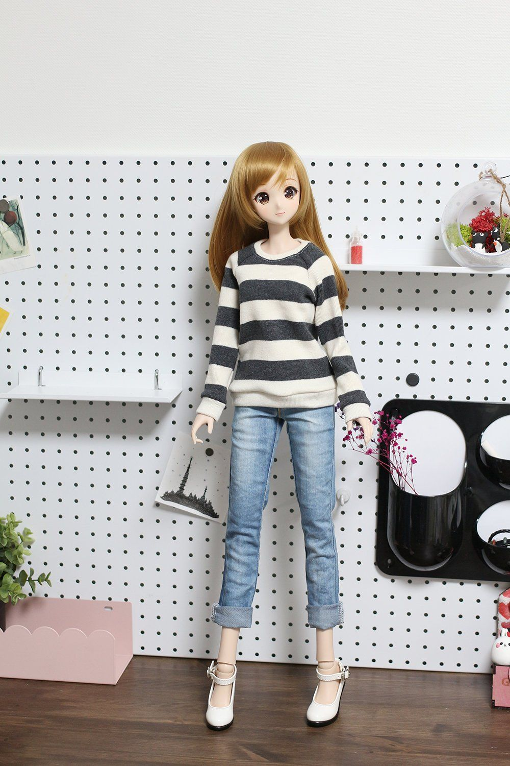 1/3 BJD Sd13 Smart doll clothes - Wide Striped long sleeves sweater 3 color