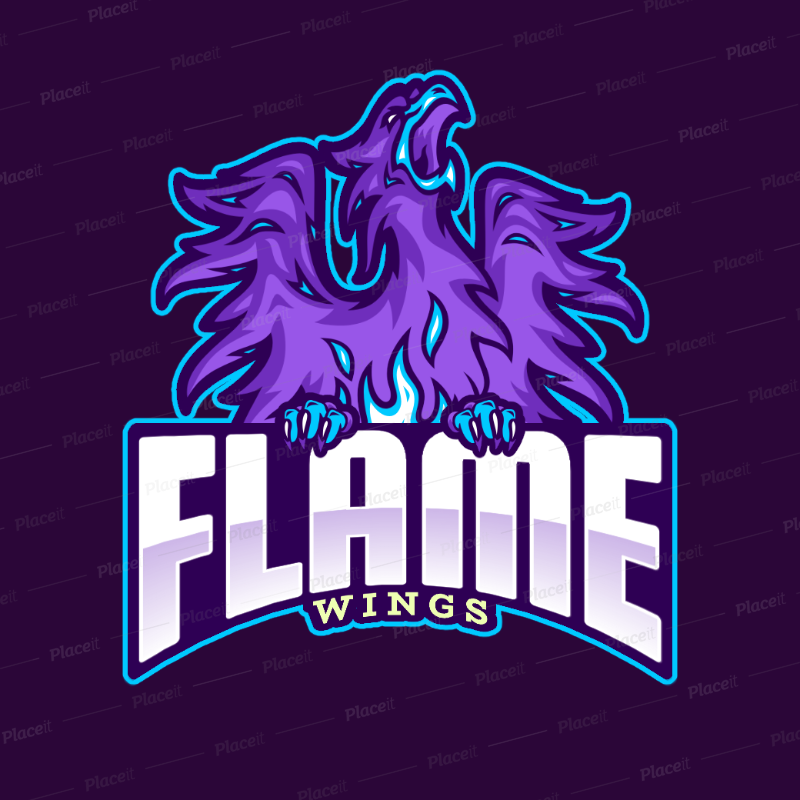 Gaming Logo Template Featuring a Phoenix Illustration 2707