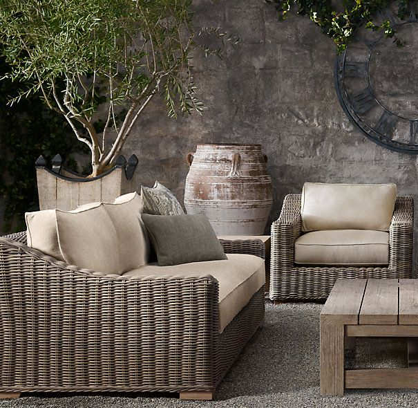 112 Quot Provence Luxe Sofa Restoration Hardware Outdoor