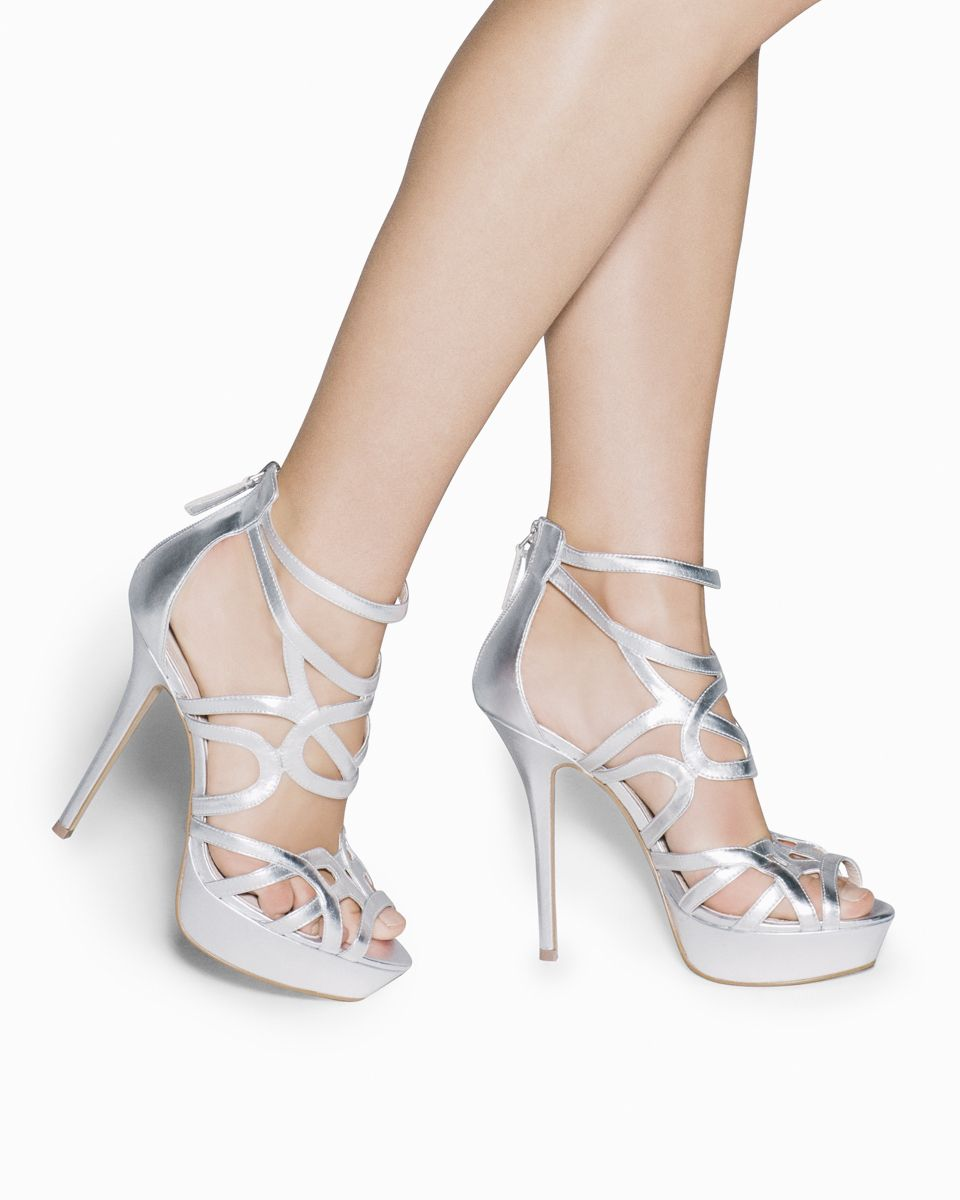 98db593e974 love these heels. love these heels Silver Strappy ...