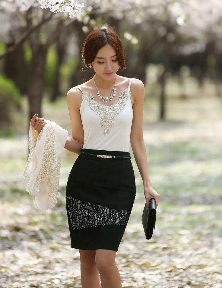 30e9dde052 faldas coreanas elegantes - Buscar con Google