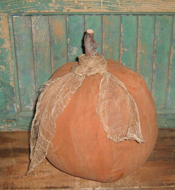 Primitive Orange Pumpkin A Big One Handmade By Me And Available