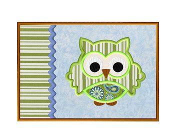 Mug Rug In The Hoop Owl Lique Embroidery Design