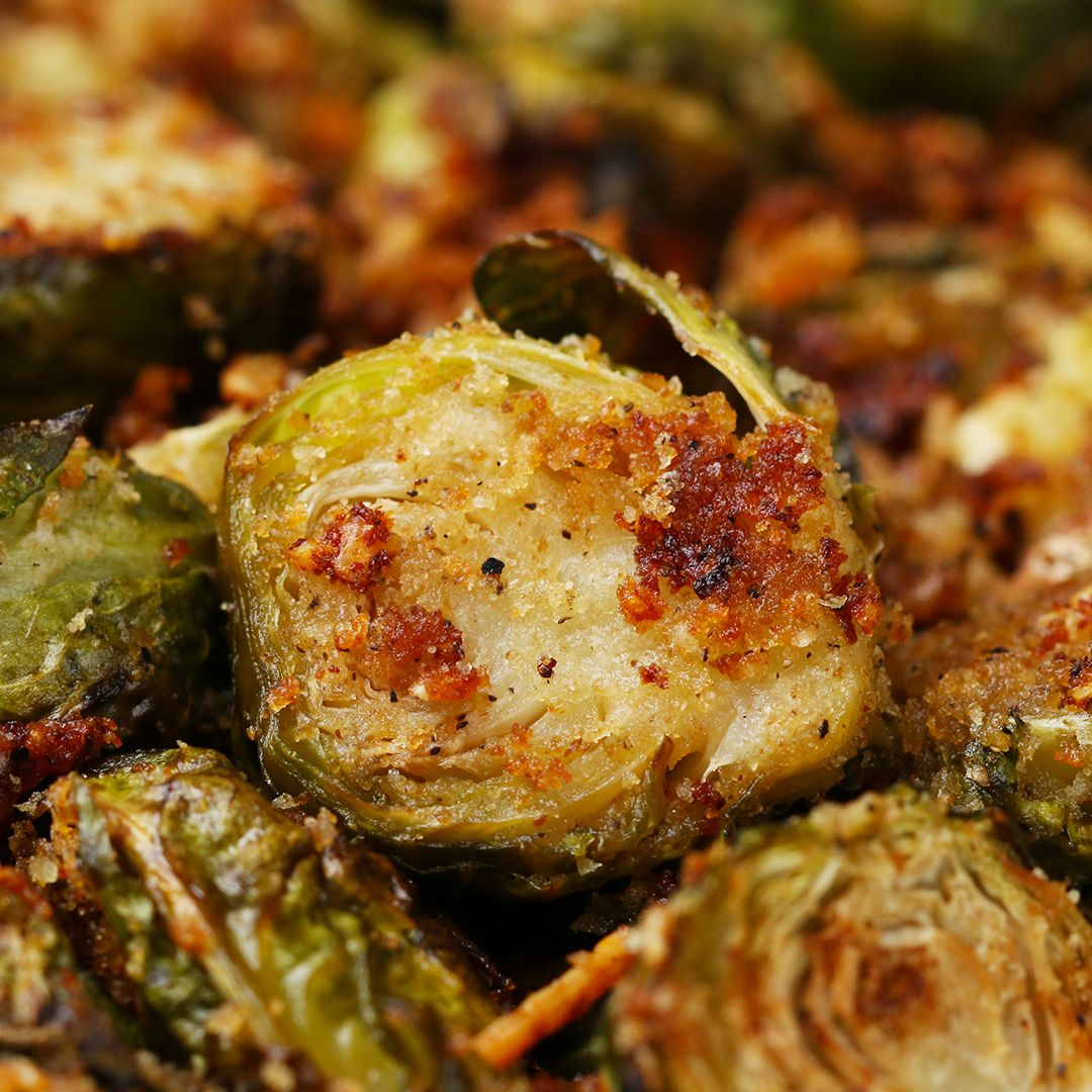 You Know You Want To Make These Garlic Roasted Brussel