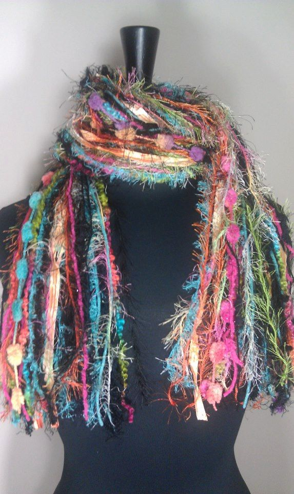 Knotted Scarf All Fringe Scarves Womens Scarf by ...