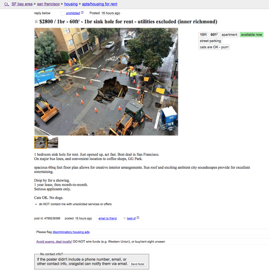 Sf Rent Is Officially A Sinkhole Now The Bold Italic San Francisco San Francisco Houses San Rent