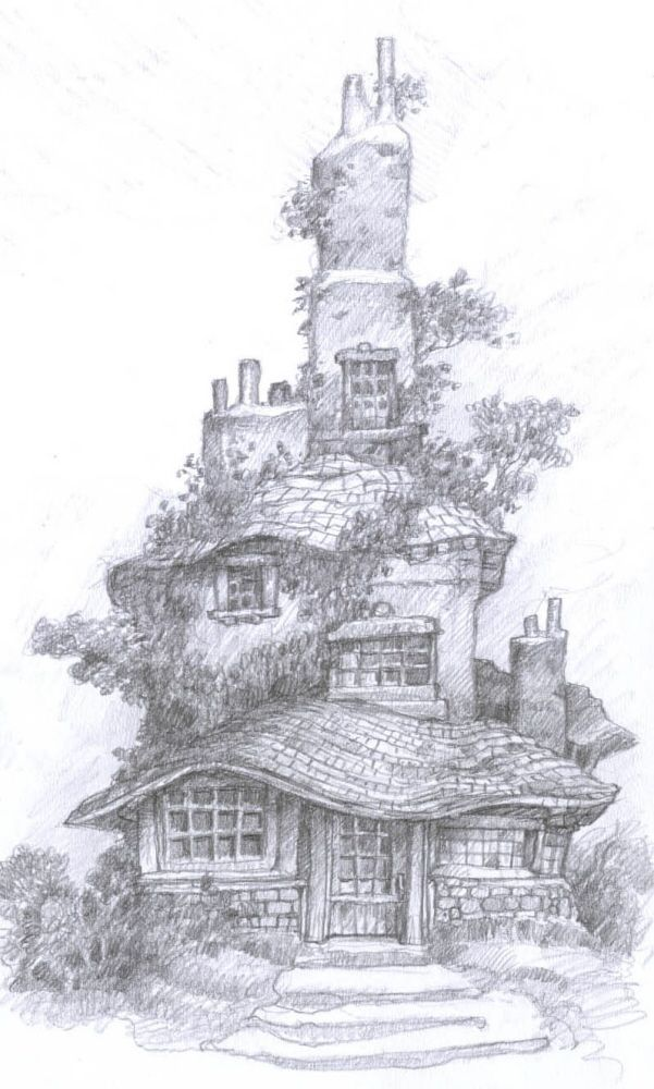 Pencil Work Fantasy Environments And Characters By