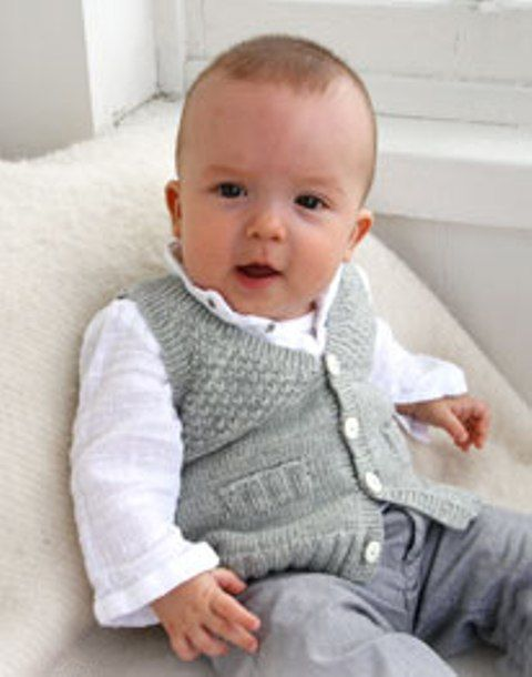 Baby Knitting Pattern For A Lovely Little Waistcoat Free Patern