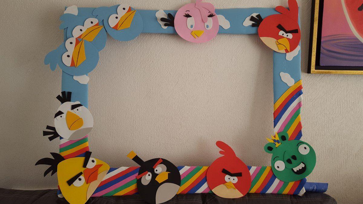 Marco Retrato Fiesta Infantil Angry Birds 250 00 En  # Muebles Pokemon Mercadolibre