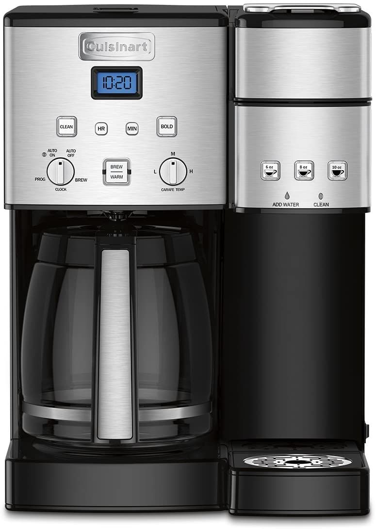 12 Cup Glass Carafe With Stainless Steel Handle Material Metal Brew Strength Control Select Bo In 2020 Single Coffee Maker Coffee Center Single Serve Coffee Makers