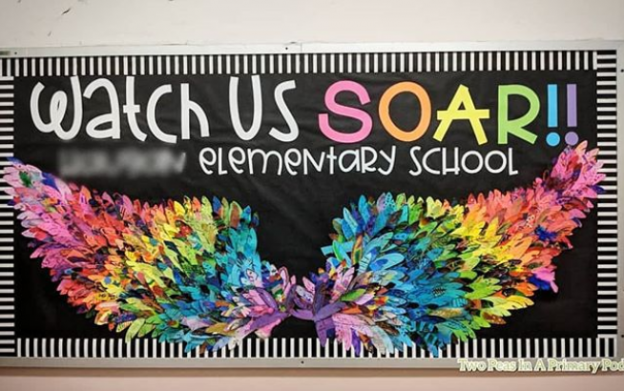 81 Back-to-School Bulletin Board Ideas from Creative Teachers #elementaryschool #elementary #school #office #rabulletinboards