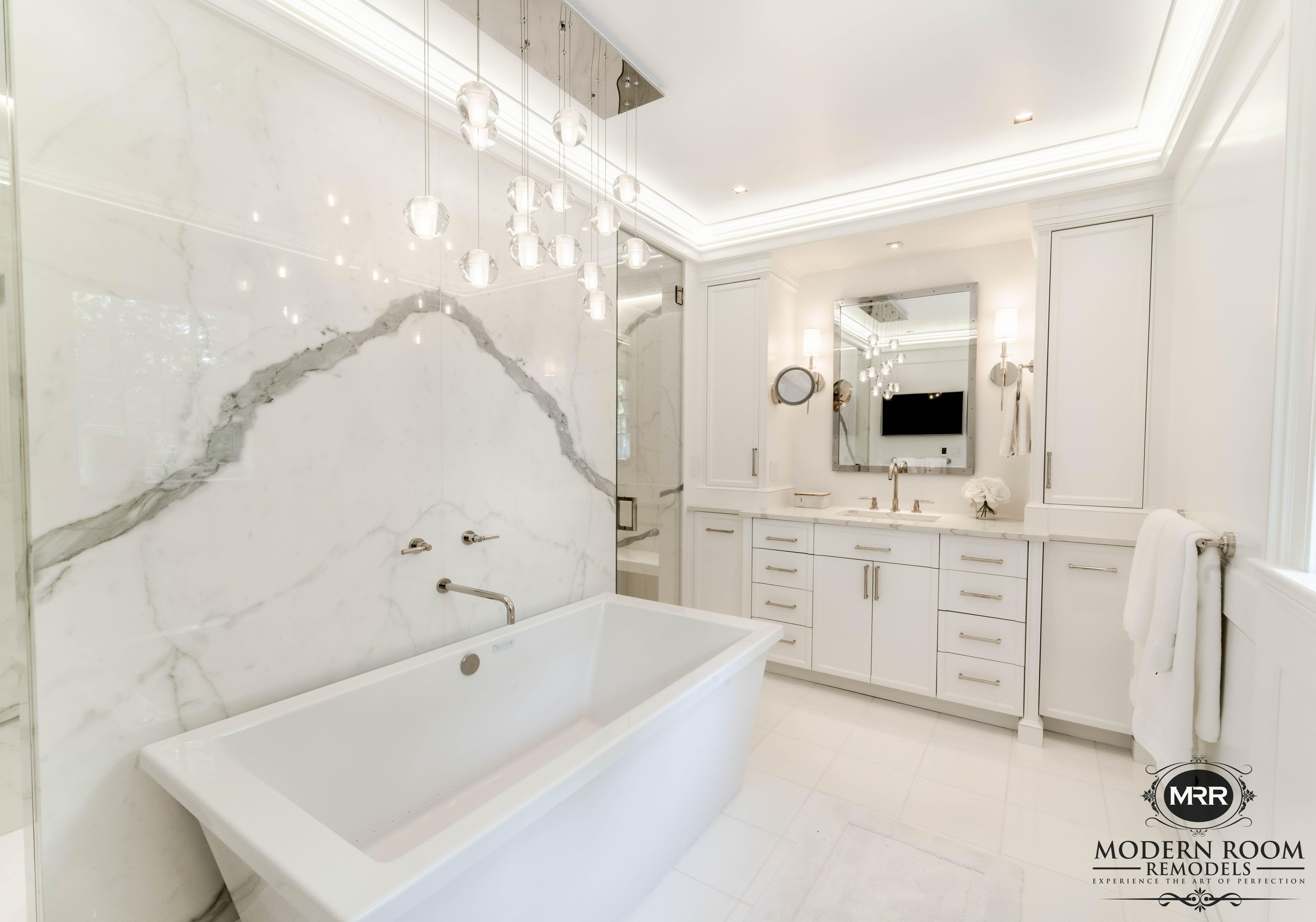 Porcelanosa Xlight Kala White for a MasterBath Suite  Gauged