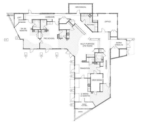 Daycare Center Floor Plan Ideas This Layout Was Chosen