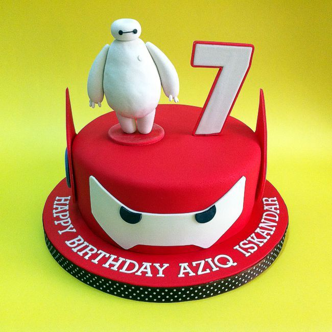 Big Hero 6 Baymax Fondant Cakes Johor Bahru Cakedeliver