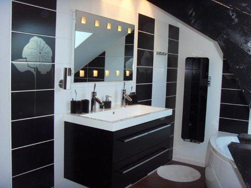idee deco carrelage salle de bain gris - Buscar con Google | salle ...