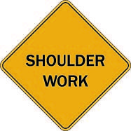 Temporary 108 shoulder work $1.64 #signs #traffic #road #USA