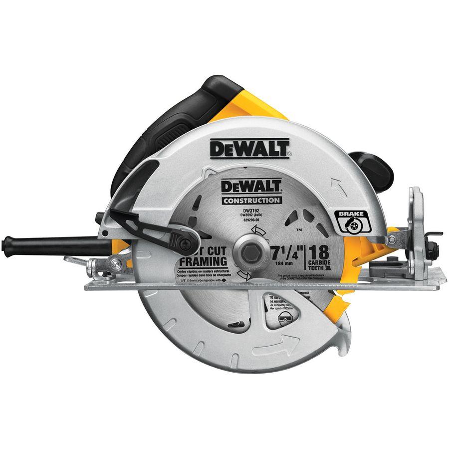 Dewalt 15 Amp 7 1 4 In Magnesium Corded Circular Saw With Brake Dewalt Circular Saw Circular Saw Reviews Best Circular Saw