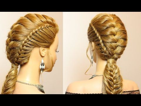 Hairstyles For Long Hair Combo Braids For Party Everyday Youtube Medium Hair Styles Long Hair Styles Cornrows Natural Hair
