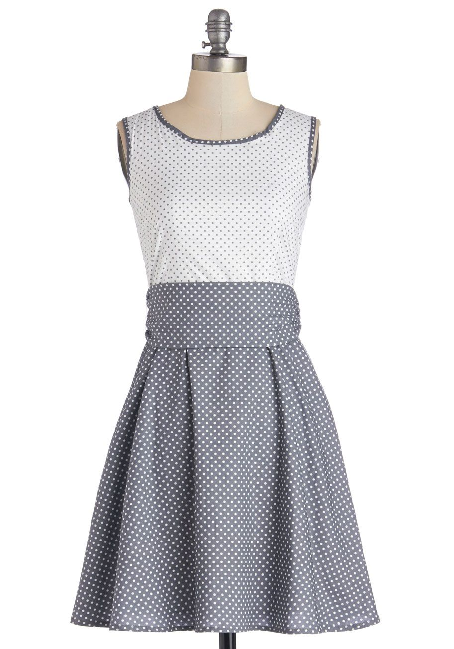 5c8205409 Make a Good Pinpoint Dress in Grey. Combine practicality with ...