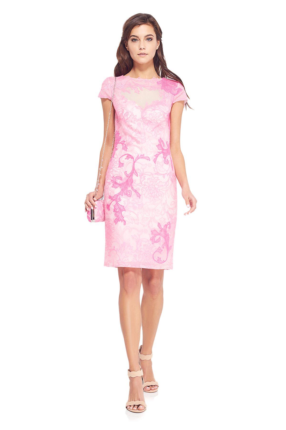 Colvard Dress l Tadashi Shoji | Watercolor Motifs | Pinterest