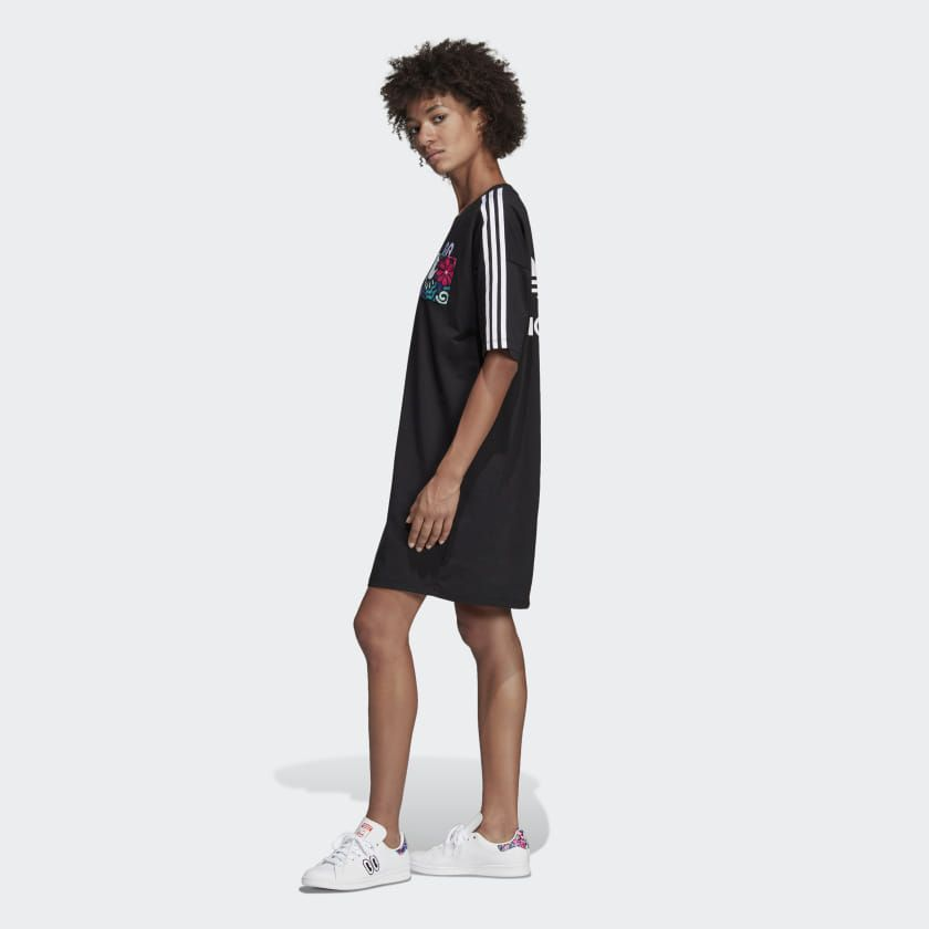 adidas Trefoil Dress - Black   adidas