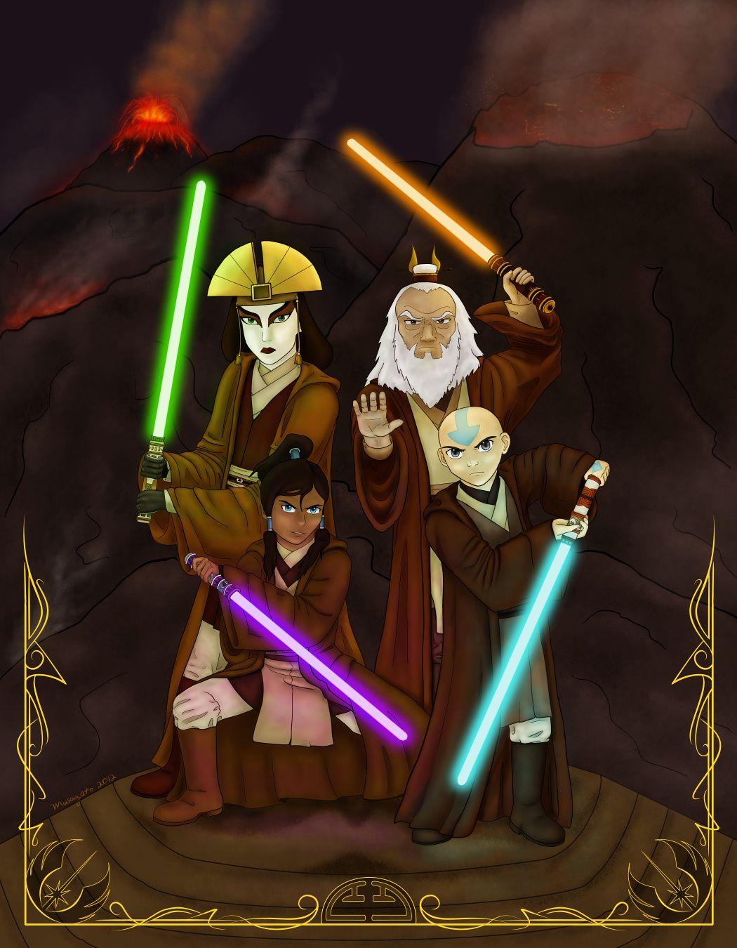 Avatar Jedi Council By Musogato On Deviantart Avatar The Last Airbender Legend Of Korra With Avatars Kyoshi Ro Star Wars Concept Art Star Wars Parody Avatar