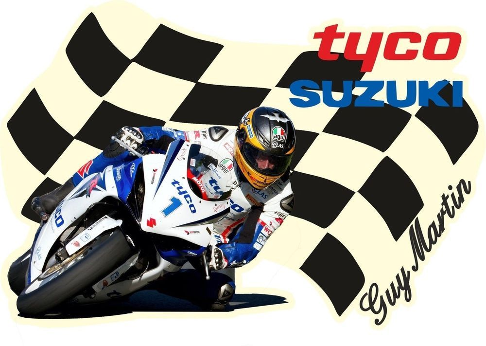 GUY MARTIN TYCO SUZUKI T-SHIRT T SHIRTS MOTOR BIKE CYCLE