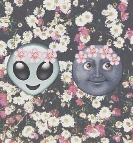 Alien Emoji With Flower Crown - Google Search