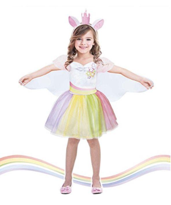 Halloween Party Fancy Dress Up Girls Costume Tutu Unicorn 7-9T ...