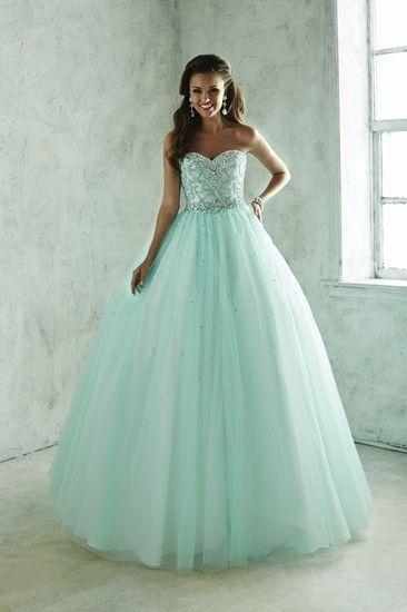 96c303841 Vestidos de 15 Años para quinceañeras Sencillos Vestidos Verde Menta