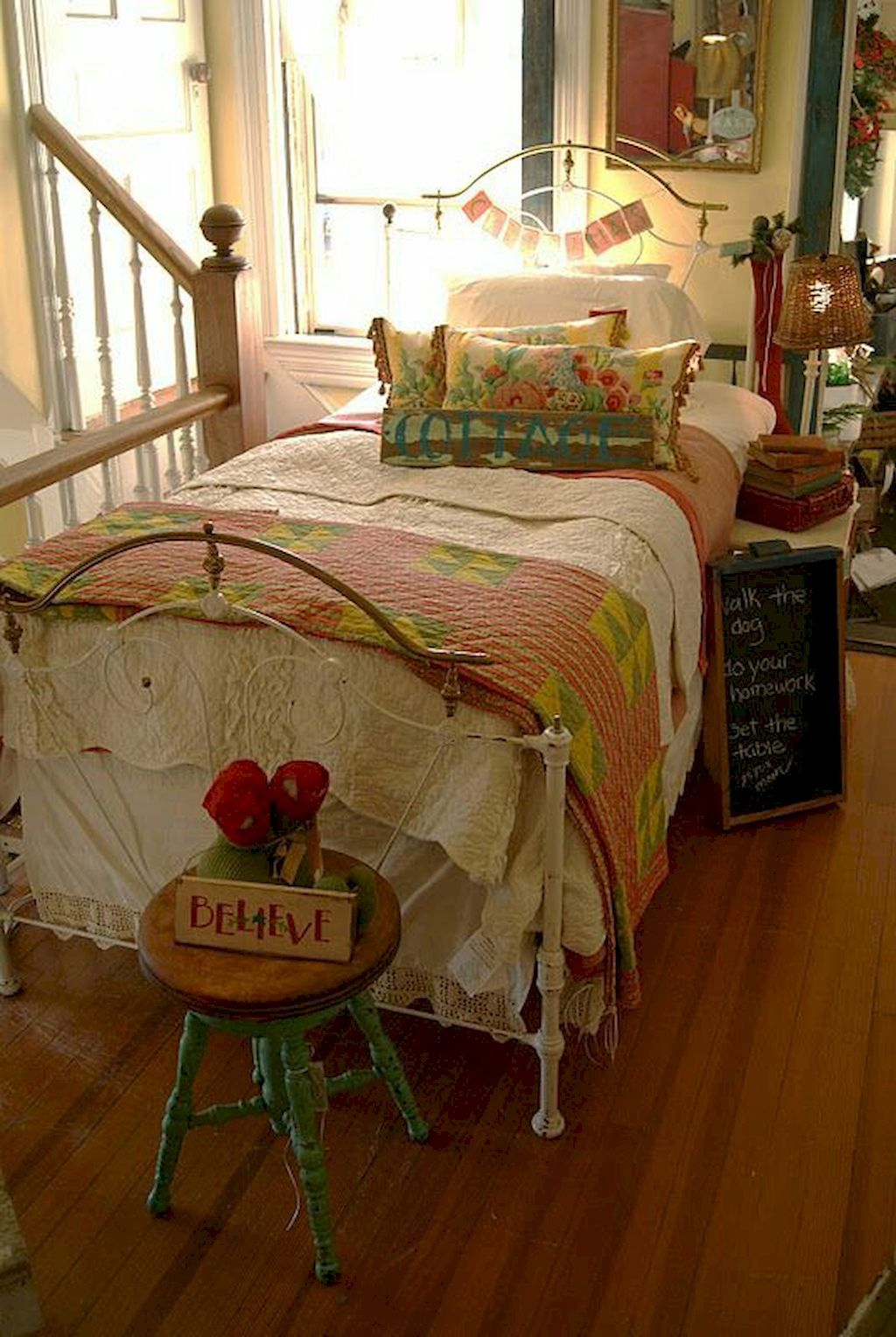 55 cozy cheerful farmhouse christmas bedroom with images