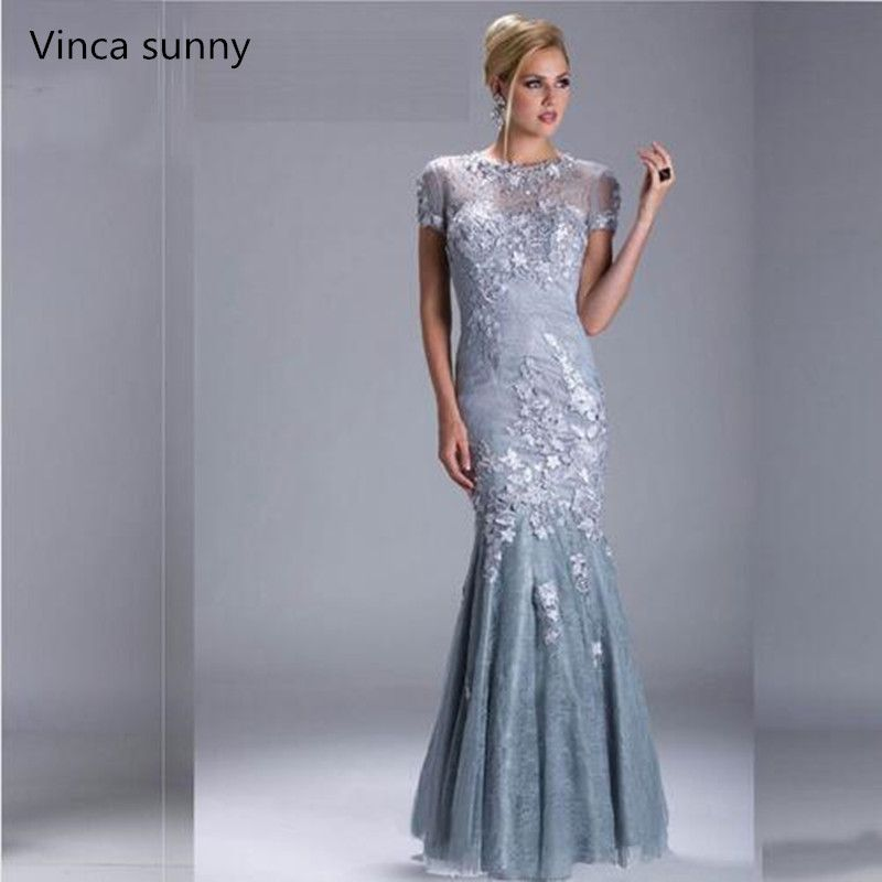 8914f715929d Cheap silver evening, Buy Quality silver evening dress directly from China  evening dresses short sleeve Suppliers: 2017 Sexy Silver Evening Dresses  Short ...