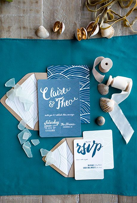 30 Beach Wedding Invitations For Any Seaside Ceremony Style Trendy Wedding Invitations Beach Wedding Invitations Blue Themed Wedding